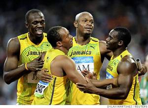 Jamaica 4x100m relay champions!