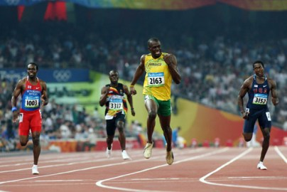 Usain Bolt wins Olympic 200m Finals