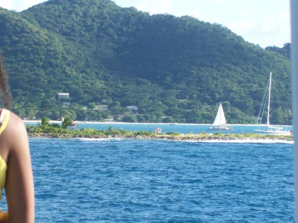 Sandy Island again as we are departing Carricou.