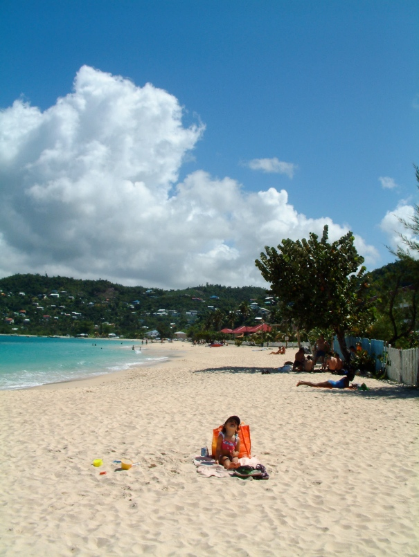 The Lil One on Grand Anse Beach